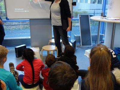 Besuch der Klasse 3a im iX Quadrat des mathematischen Instituts