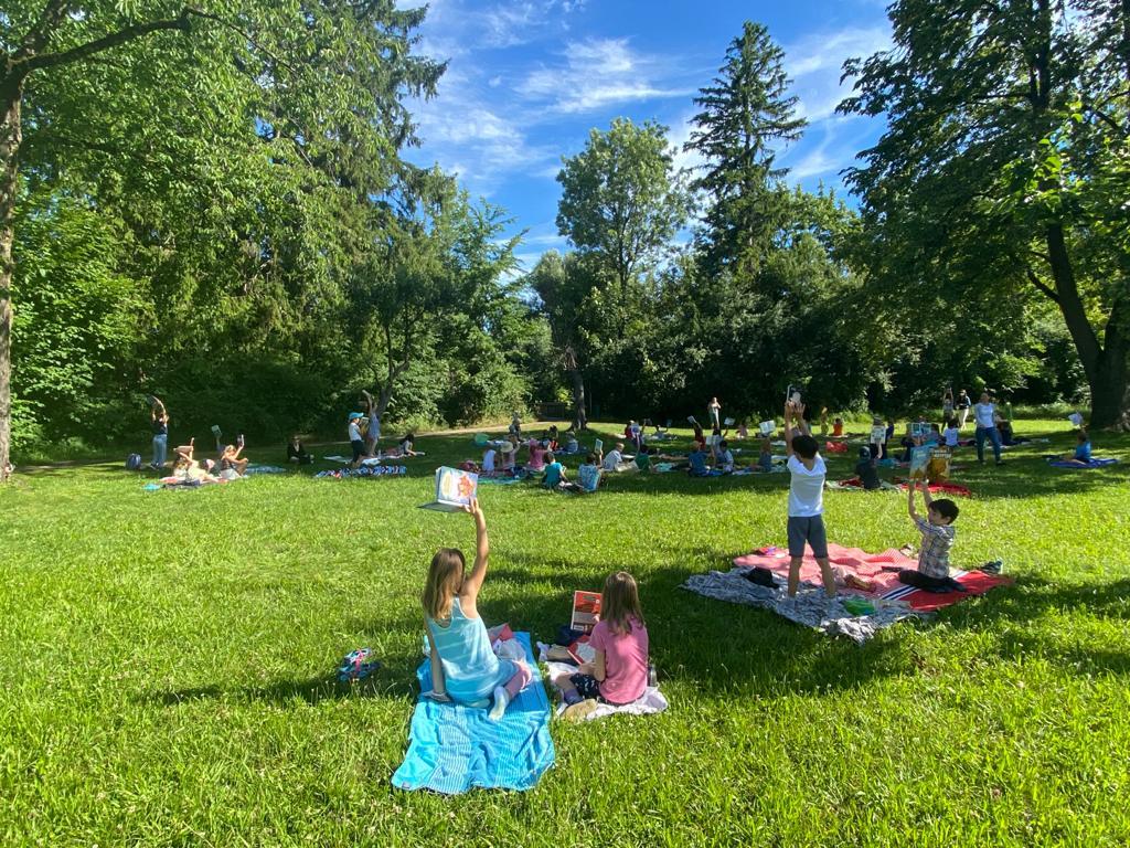 Lese-Picknick im Obstgarten – 2. Klassen